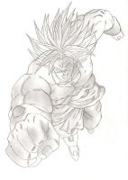 Broly pencil by wLadyB91