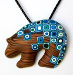 Wood Retro Blue Bear by FauxHead