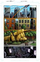 Nova City Stories pg. 1 color by PeterPalmiotti