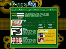 Genre-Sky Website Design 2 by Noah0207