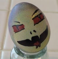 Pastel Voldemort of DOOM Egg by MichellePrebich