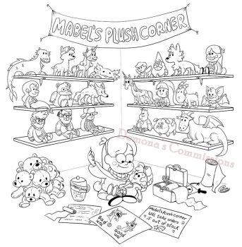 Mabel's Plush Corner (Commission) by Demona-Silverwing