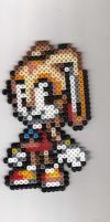 Cream the Rabbit Beadsprite by Spazzikisster