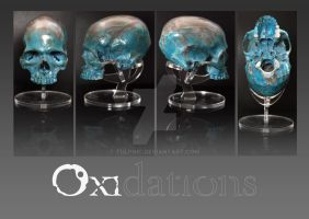 Oxidations, bronze skull by Tulpnic
