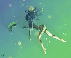 Underwater girl 1 by CarolinVogt
