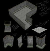 Monster Tower wall models by Solacen