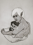 Comforting Hawke by trowicia