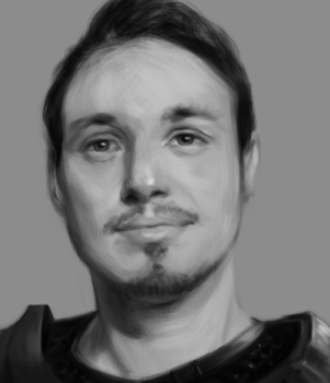 Self Portrait- Value Study by AxiDaos