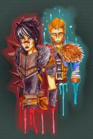 Hawke and Justice by WolfLinkByDarkEco