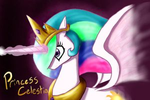 MLP Fan Art: Princess Celestia by Mephikal