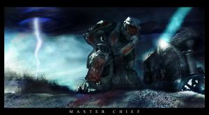 Master Chief Dark and Bloody by Thomasmith