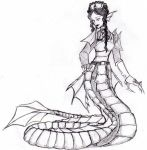 Sea Naga warrior, female by Black-Saber