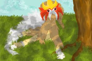 Entei under Tree by JuggalettaGurl
