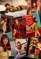 Mary Jane Watson collage by DESPOP