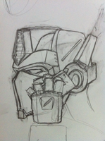 Optimus Prime initial concept sketch by propsofprophecy