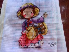 The Traditional Dance of Korea (Soda Stitch) by Katezath