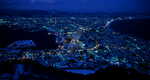 Hakodate City at Night by Zeroibis