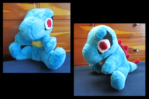 Totodile Plushie by DragonwolfRooke