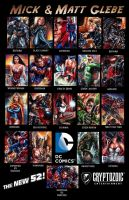 New 52 Sketch Cards by Twynsunz