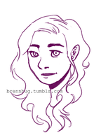 annabeth chase (sketch) by renesmeecullen51