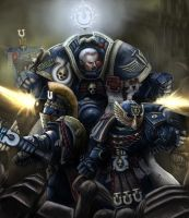 Warhammer 40k: Marneus Calgar and Honor Guard by Jorsch
