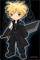 Chibi Cloud FF7 Advent by enciel