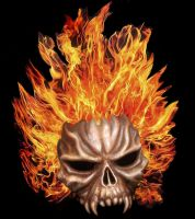 Flame Skull by naraphim