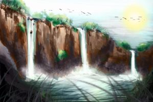 Waterfall V1 by 128Bray