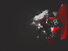 +The leader in Red: Wallpaper by CashmereSnow