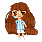 :Art Trade: Meli-chan Argentina :animated: by Pikapillow