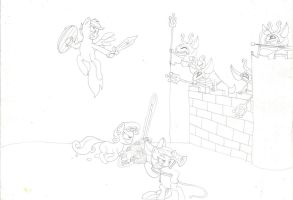 Cutie Mark Crusaders and the Miniblin's Castle by lordsiravant