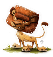 Daily Paint 654. Lion by Cryptid-Creations