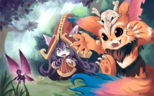 Gnar and Lulu by AmanoChio