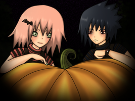 SasuSaku Halloween by Veriito-chan