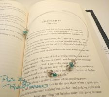 Bookmark Smokey Teal Crystal 61 by TheSortedBead