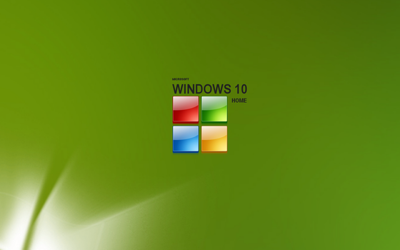 Green Microsoft with logo 1 by ktb2424