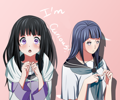 Hinata and Chitanda crossover by AramiHikari