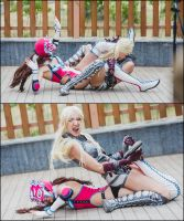 Tekken girl's wrestling 1 by neko-tin