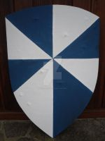 Blue and white gussets XIII Century heather shield by enrico-ors-91