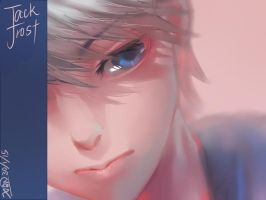 Rotg- doodle jack frost by christon-clivef