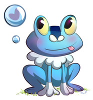Froakie by deedledove