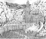 battle of Helms Deep by BROKENHILL