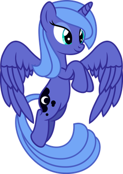 Luna Flying by imageconstructor
