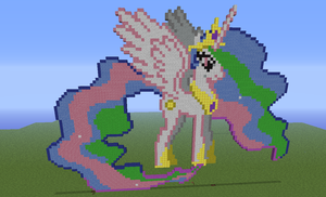 My Little Pony Princess Celestia Minecraft by Fluttershy1502