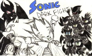 Sonic Dark Fight cover 2 by Auroblaze