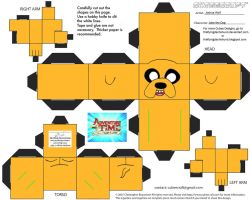 CE1: Jake the Dog Cubee by TheFlyingDachshund