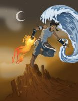 Korra, Master of all (three) Elements! by blangoog