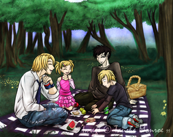 Commission: Family Picnic by ToshieChan