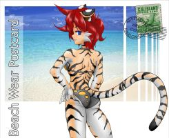 Beach Wear Postcard Tina by freelancemanga