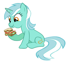 [VECTOR] Lyra and her sandwich by TriteBristle